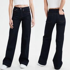 American Eagle Wide Leg Jeans, Sz 6 Short, NWOT